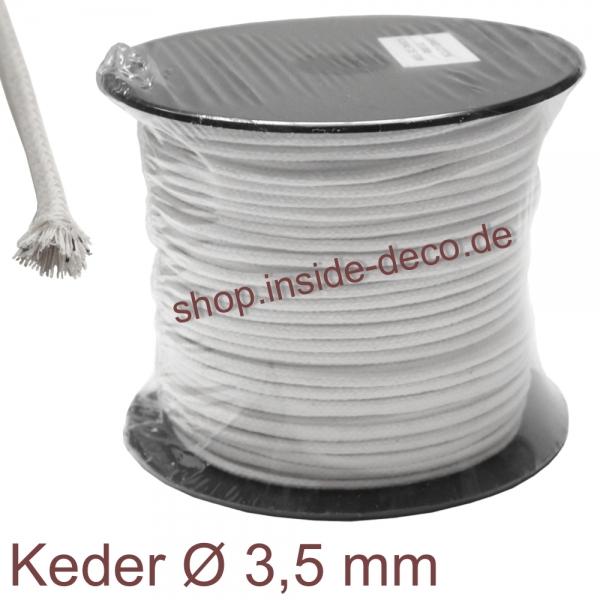 Baumwoll-Keder / Keder aus Baumwolle Baumwollkeder - 100 Meter
