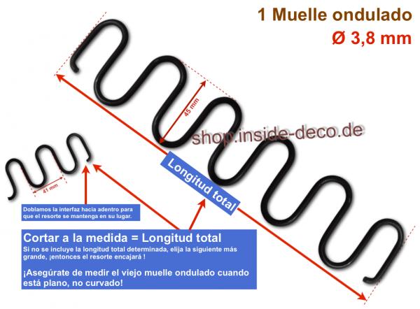 Muelle ondulado - Cortar a la medida