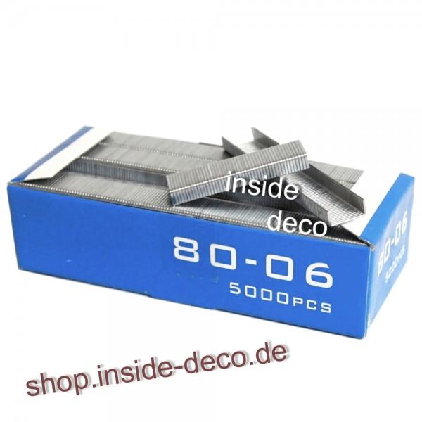 Tackerklammern, Heftklammern Typ 80 / Typ 380 5.000 Stück verzinkt