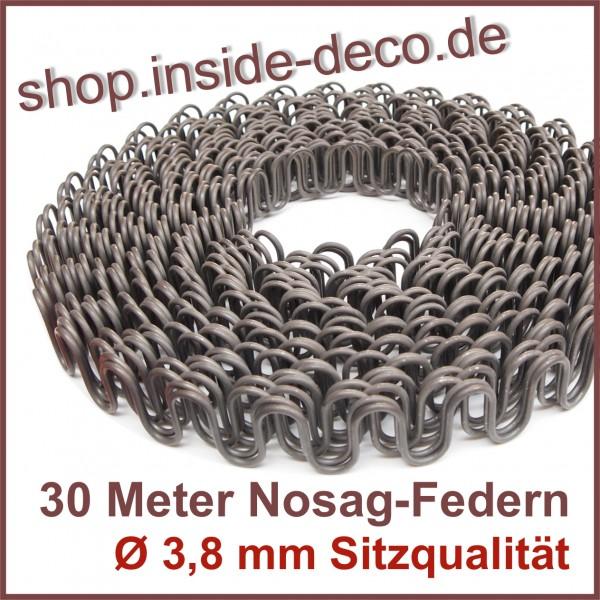 30 Meter Nosagfedern Nosag Federn Wellenfedern Ø 3,8 mm