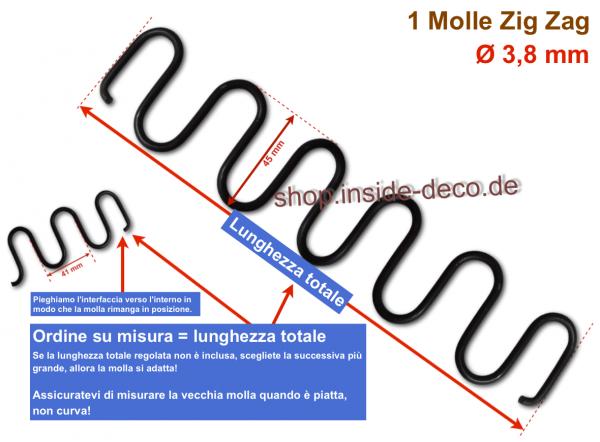 Molle a zig zag - tagliate a misura